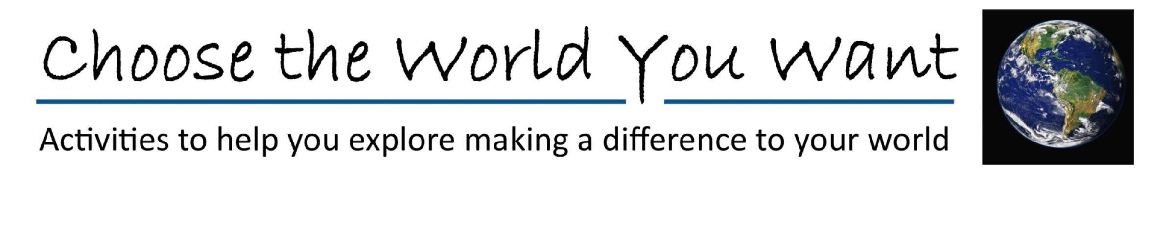 New home learning activities from CDEC to help young people Choose the World You Want