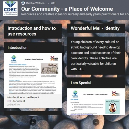 A Place of Welcome: Cumbria's Community Integration project produces valuable resources as its finale
