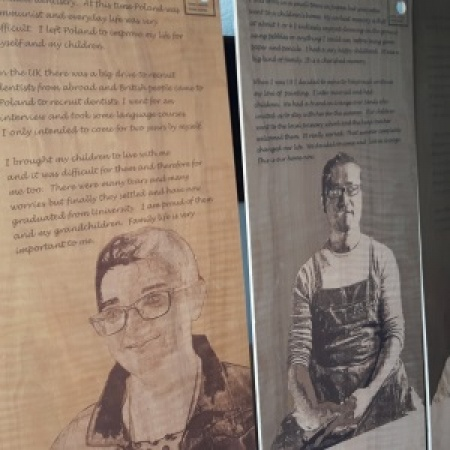 The touring Hidden Stories Shared Lives exhibition